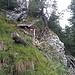 Steigpassage kurz oberhalb des Bayrischen Stiegls