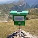 Die lustige Box mit dem Gipfelbuch.