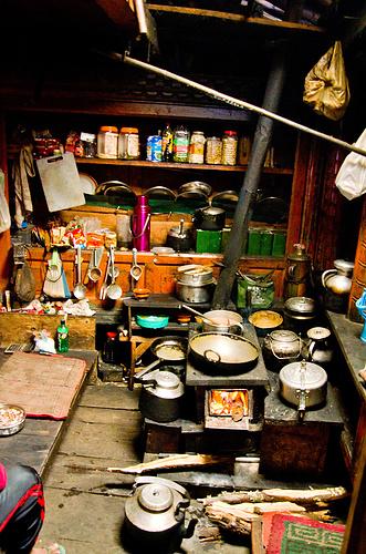 Hier wurden sämtliche Speisen zubereitet.