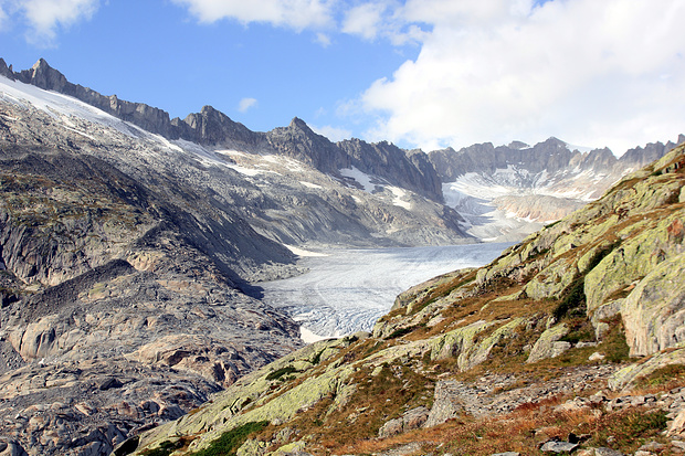 Glacier du Rhône.