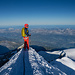 Gipfelgrat beim Abstieg