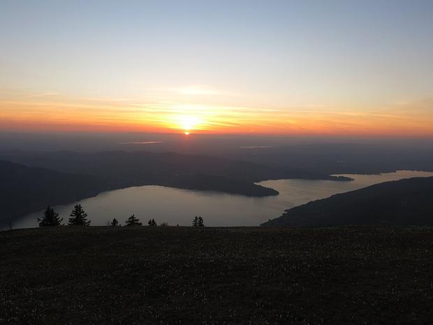Voila Sunset über dem Zugersee
