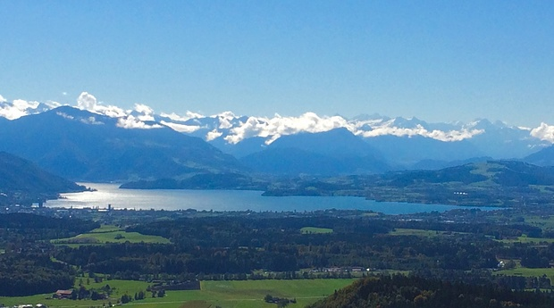 fantastic views to Lake Zug and BEO