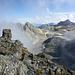 Blick hinunter zum einstigen Gletscher