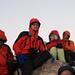 In vetta aspettando il sorgere del sole:Guido, Laura e Fabrizio