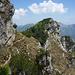 Im Rückblick der Gipfel des Monte Corno
