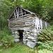 Romantische Hütte am Weg