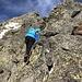 leichte Kletterei (II), welche Spass gemacht hat