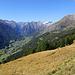 Das Virgental von Bobojach (links unten) bis Hinterbichl. Der größere Ort in der Mitte ist Prägraten.
