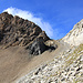 En haut de Rote Sulz. Au centre, le passage (P.2650) qui permettra d'atteindre la crête du Gibelhorn.