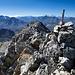 Der Gipfel Skistock