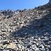 ... im bis 40° steilen Hang unterhalb des finalen Gipfelzustieges