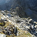 Rückblick auf den Aufstieg, hinten der Pizzo Fiorasca