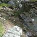 der steilste Abschnitt im Abstieg kommt bereits auf ca 1900 m