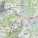 Der Weg vom Lägernhaus zur Holzegg - in den drei Tagen teilweise mehrmals begangen