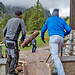 Fliegendes Holz beim Skihaus
