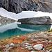 Le petit lac à 2300m alimenté par les eaux du Mättital Gletscher.
