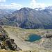 [tour138358 Piz Chalchagn (3153m)], da waren wir auch schon mal. Lauft man von Gipfel etwas in Richtung Cuolm d'Mez, sieht man dieser kleine See.