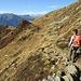 Verso l'incrocio con il sentiero che sale dall'Alpe Segna, da lì proseguiremo per il Lago di Carì.