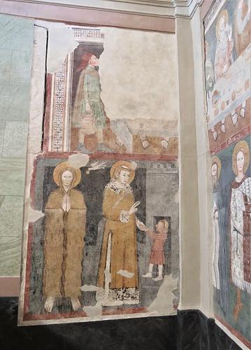 Altri affreschi dei Seregnesi sulla parete Ovest.