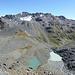 Etwas höher (etwa 2780m), Aussicht auf Bergseen und Scalletahorn.