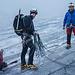 07:00 Uhr, Anseilen auf flachem Gletscher