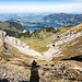 Am Gipfel des Risetenstocks angelangt: Blick nach Norden zum Vierwaldstättersee ...