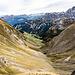 ... bis ich am am Steinalper Jochli angelangt bin. Dort biege ich links ab, runter in das Kar, zurück Richtung Gitschenen.