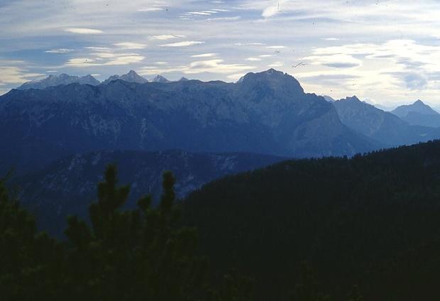 Blick auf die Berchtesgadener Alpen