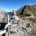 Gipfel des Teufelkopfes mit Blick zum Grat der Gumpenspitze