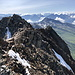 Großer Piz Buin (Piz Buin Grond) - Ausblick am Gipfel, hier entlang des etwa ostsüdöstlich verlaufenden Grates.