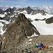 Großer Piz Buin (Piz Buin Grond) - Ausblick am Gipfel in etwa westliche Richtung.