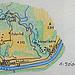 Kartenskizze der Tour für das Fotoalbum.