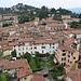 Tiefblick auf Bergamo vom Turm
