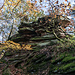 Interessant und recht schön anzuschaun: die Sediment-Schichtungen dieses pittoresque verwitterten Roches.