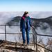 Wanderin über Nebelmeer.