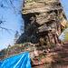 Wir erreichen die Wegelnburg. Sie ist mit 571 m der höchste Punkt unserer Wanderung. Leider wurden gerade Renovierungsarbeiten durchgeführt.