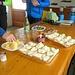 Antipastino ... (dopo le birolle) cetriolini, patatine, tartine con zola, salame piccante