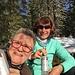 ... und tranken unseren Gipfeltrunk an einem windgeschützem Örtchen<br />(Foto von Susanne)