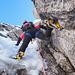 altro passaggio non semplice con uscita su muro di neve verticale