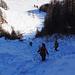 lungo gli ultimi 100 metri siamo costretti a togliere gli sci... Ma un po' di sano ravano orobico non guasta!