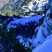 Tiefblick vom Gipfel des Chli Aubrig.