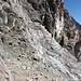 Die ersten Meter in der Nordwand. Teils ganz ähnliches Gelände wie in der Watzmann Ostwand