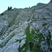 [U Maveric] strebt dem Felsenfenster entgegen