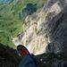 Der klassische Tiefblick in die Gamsbergflanke von der Rosswis