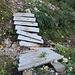 der Jägersteig ist eigentlich gut in Schuß, über marode Brücken sehen wir mal gnädig hinweg