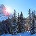 ...die Sonne wärmt uns jedoch schon kurz nach der Alp Bidem.