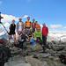 Foto di vetta: Silvia, Rinaldo, Ludovico, Marco, Catia, Denis, Floriano, Chiara, Fausto