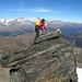 Luftige Kraxelei beim Abstieg vom Hillehorn