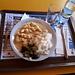 <b>Alle 12.40 mi gusto un buon piatto al Ristorante La Pernice: bocconcini di pollo con crema, riso e zucchine.</b>